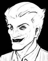 Joker black and white by Bat-Dan
