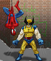 Wolverine and Spidey by Bat-Dan