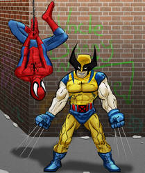 Wolverine and Spidey by Bat-Dan