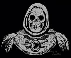 Skeleton woodcut by Bat-Dan