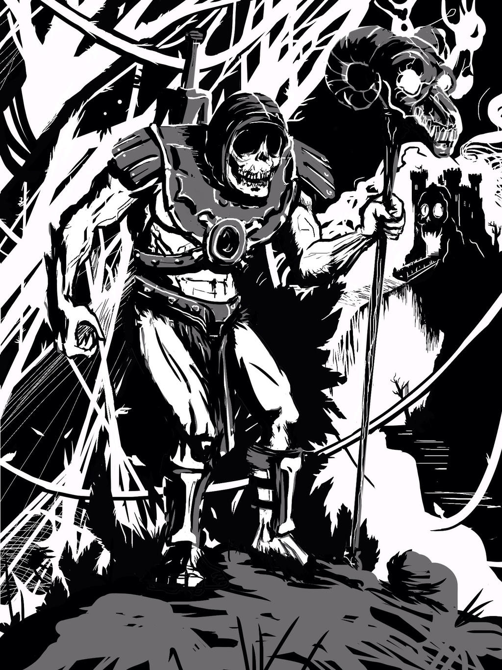 Skeletor Creeping by Bat-Dan