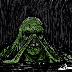 Swamp Thing Black and Green
