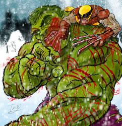 Hulk vs. Wolverine  Round 3 by Bat-Dan