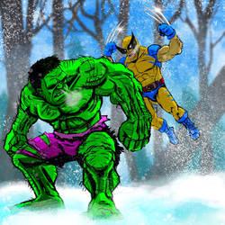 Hulk vs. Wolverine Round 1 by Bat-Dan