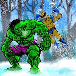 Hulk vs. Wolverine Round 1
