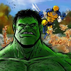 Hulk vs. Wolverine Round 2