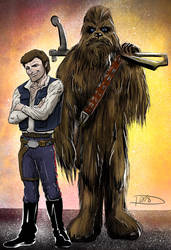 Han and Chewbacca by Bat-Dan