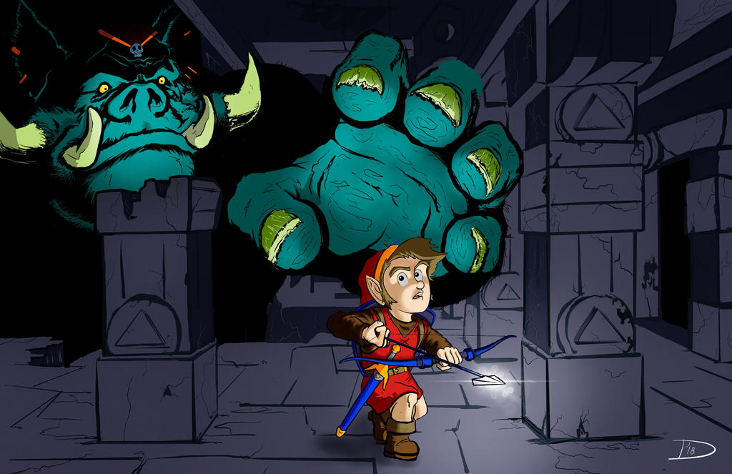 Link vs. Ganon by Bat-Dan