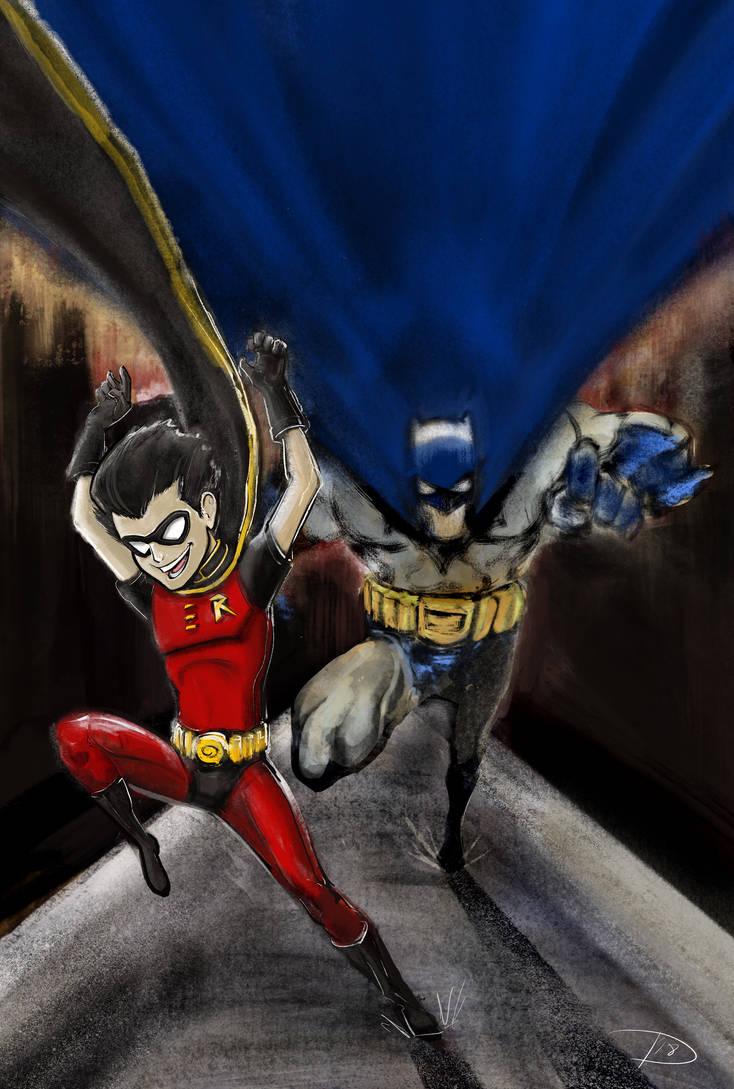 The Batman and Robin Runneth by Bat-Dan