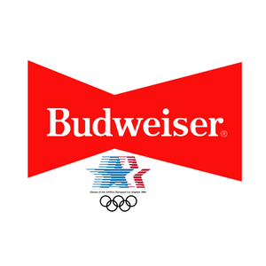 80's Budweiser with 1984 US Olympics Badge