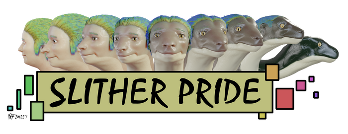 Snake Head Slither Pride Small