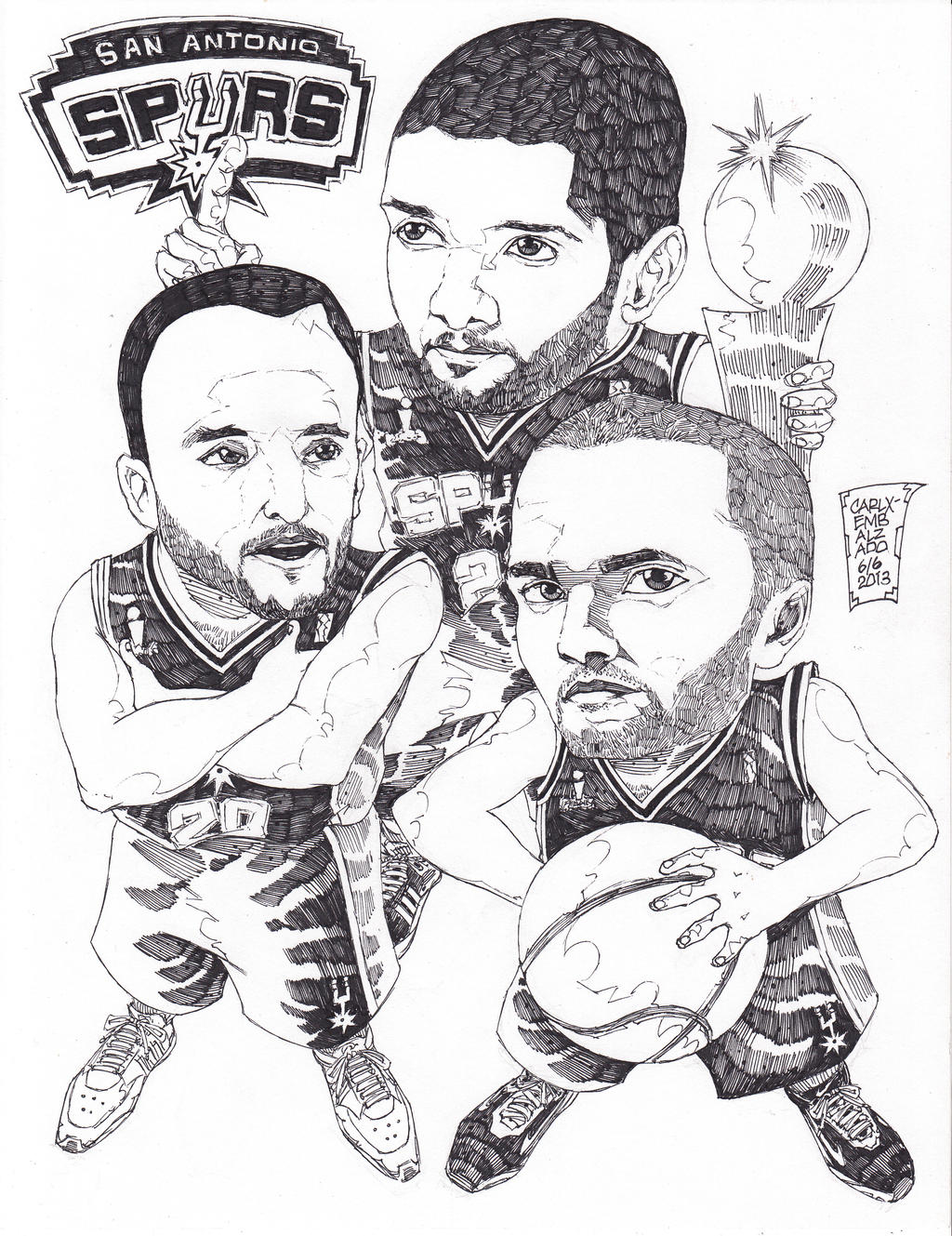 san antonio spurs coloring pages - san antonio spurs by carlxborlaembalzado on deviantart