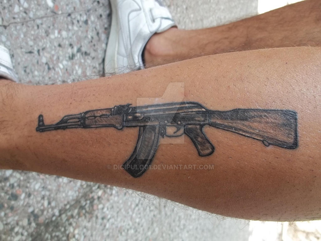 Kalashnikov ak 47 tattoo by dicipulo01 on deviantart for Alaska tattoo shops