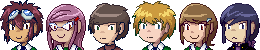 Tri.!Team 02 icons by adventure-heart