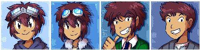 Motomiya Daisuke's evolution by adventure-heart