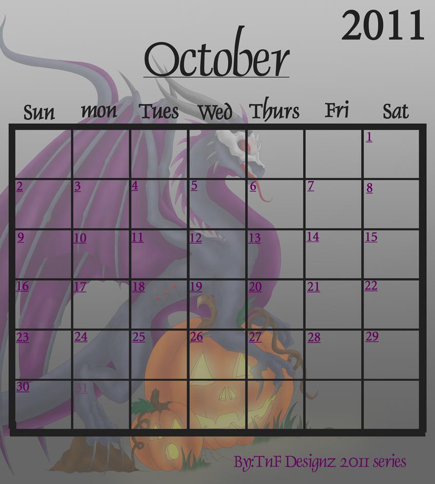 October Calendar Art : Calendar october by natasha donovan on deviantart