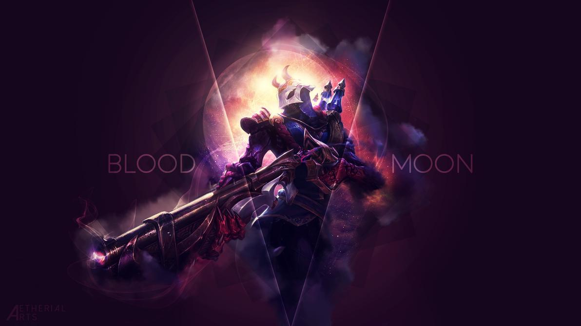 blood moon jhin wallpaper by aetherialarts on deviantart