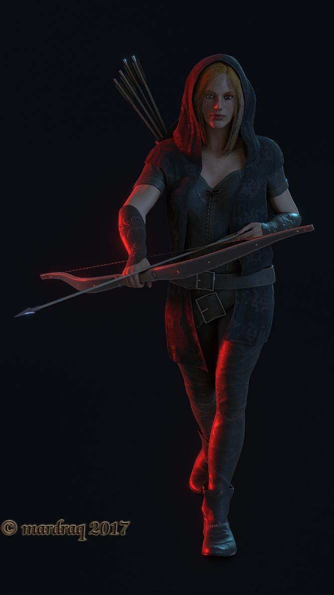 Huntress Eevee Render 01 by mardraq