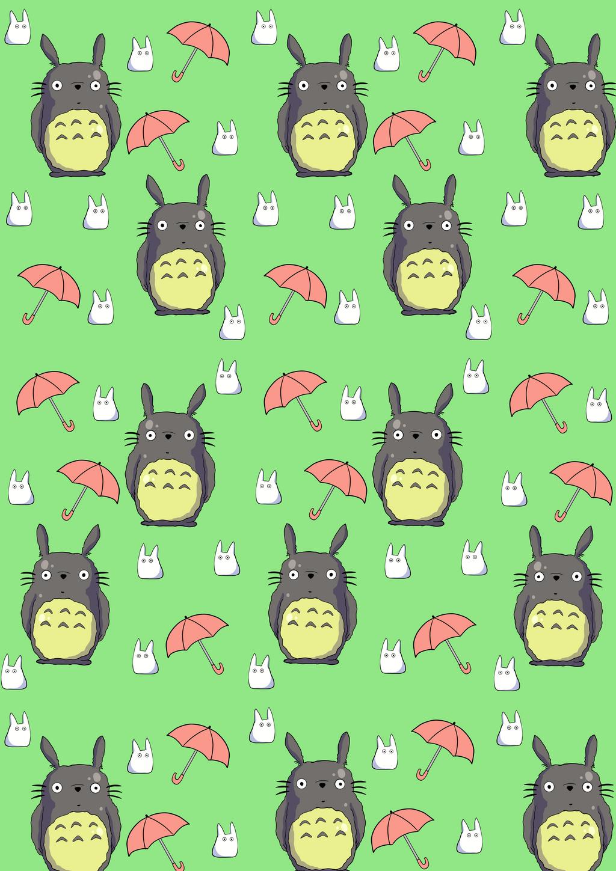 My Neighbour Totoro Phone Wallpaper By Sweetpea Art On