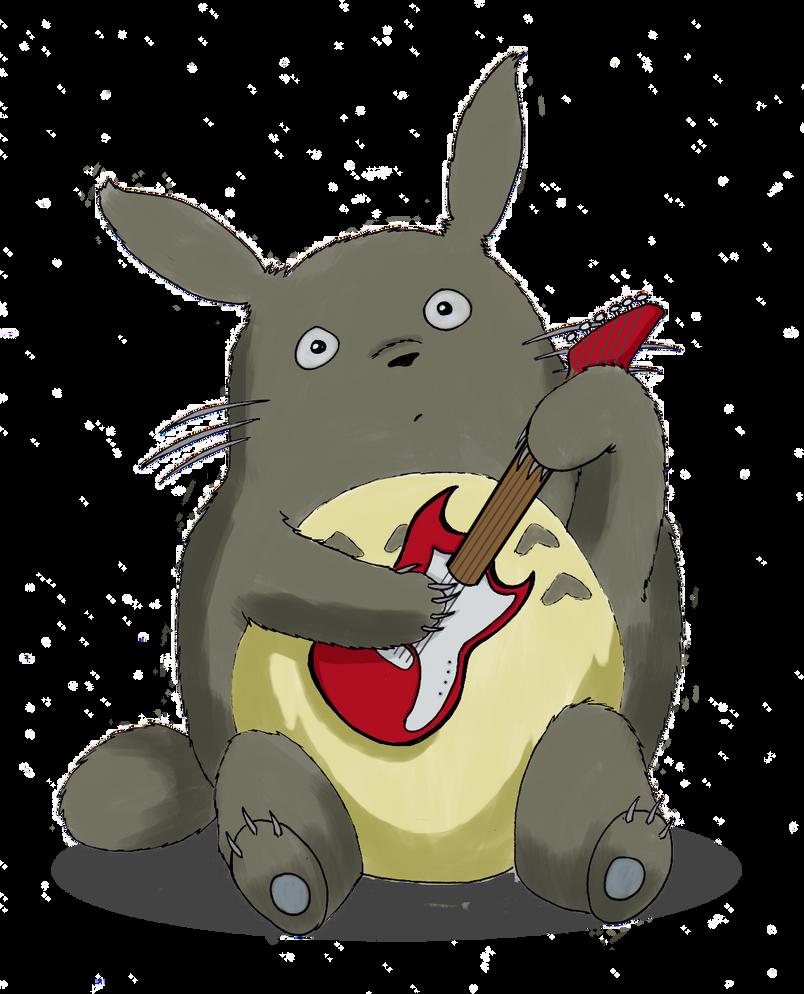 Kiriban: Totoro plays guitar by Naoko-Tomomi