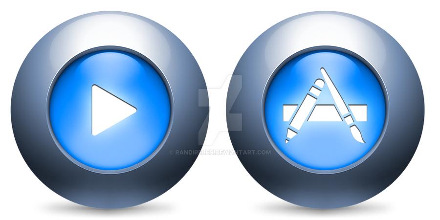 App Store + iTunes Icon by randirelen