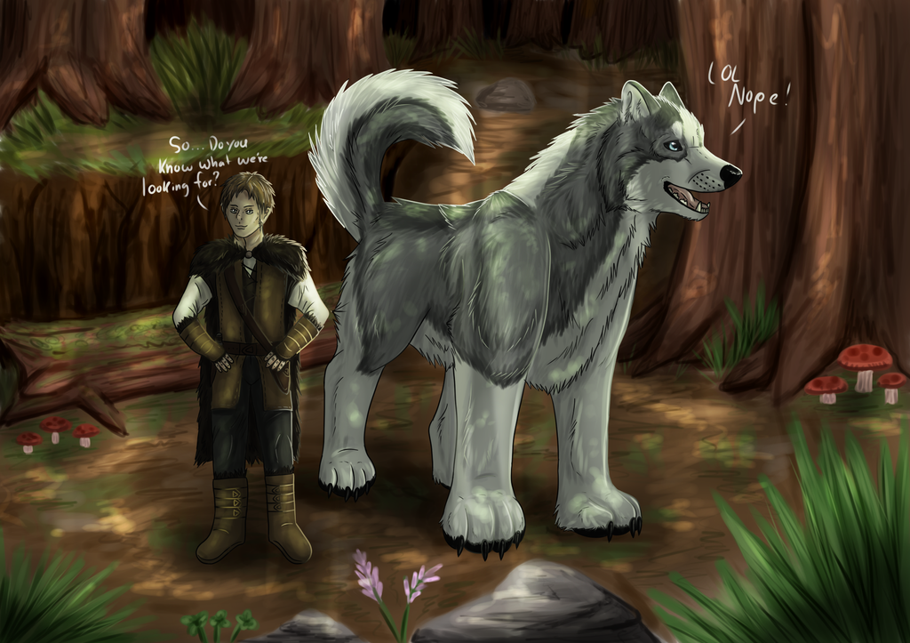 Gathering Herbs by windwolf55x5