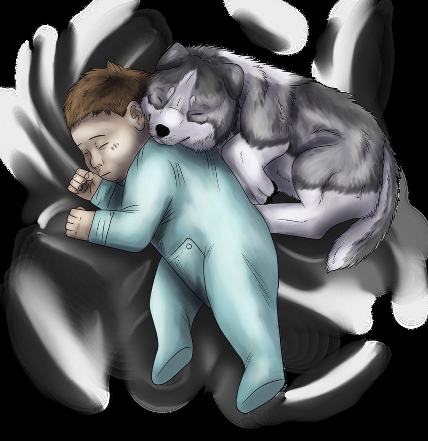Sleeping Babies by windwolf55x5