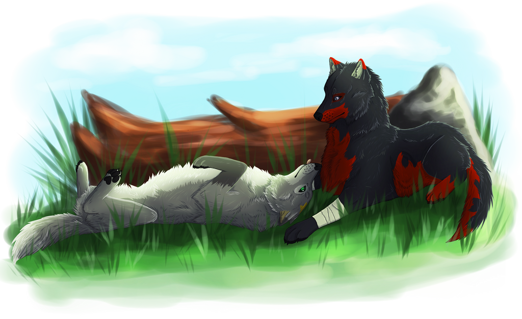 Silver and Nootau by windwolf55x5
