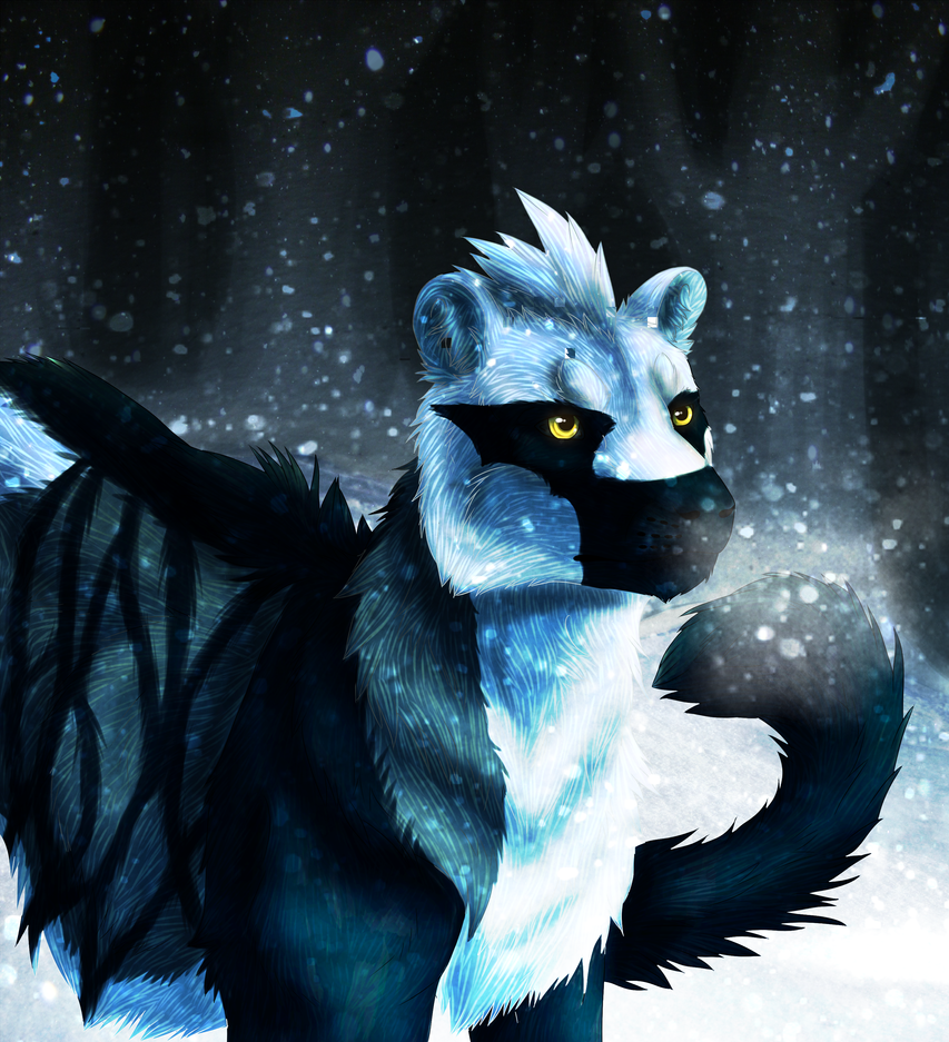 Falling Snow by windwolf55x5