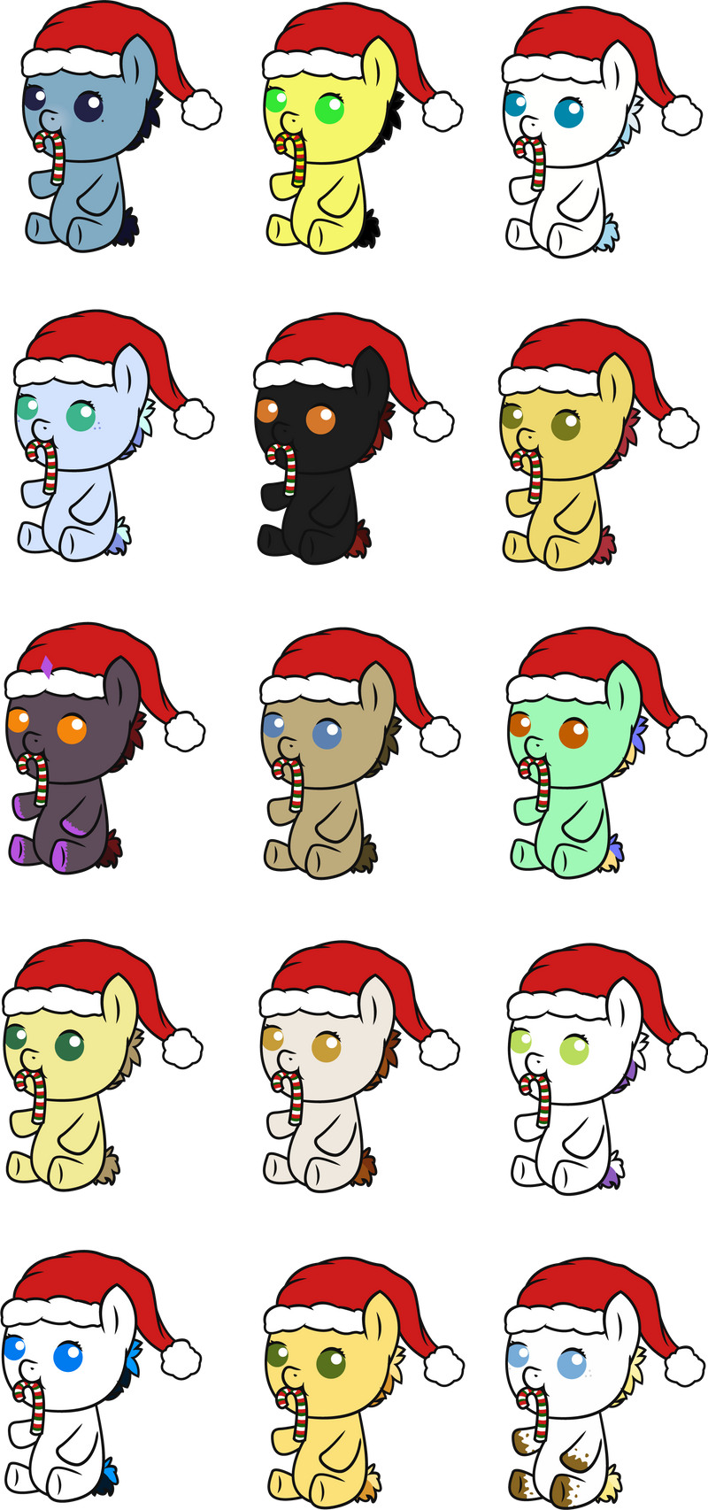 Christmas Foals! by KachiWho