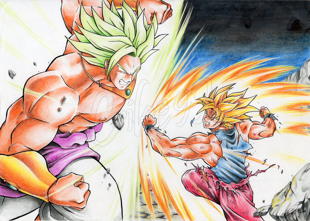 goku vs broly by Crike99