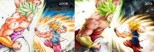 Goku vs Broly - Then and Now -