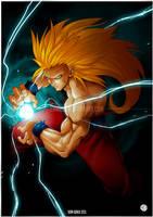 Goku-ss3 by Crike99