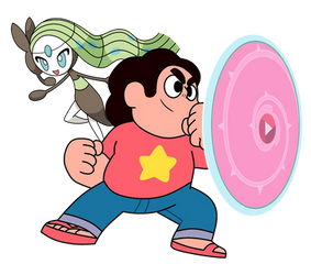 Steven and Meloetta by DispoableButtons