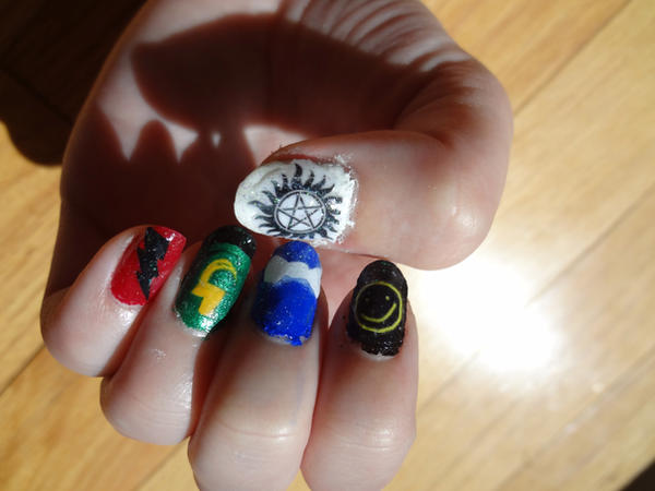 Fandom Nail art by frenchlilies2448