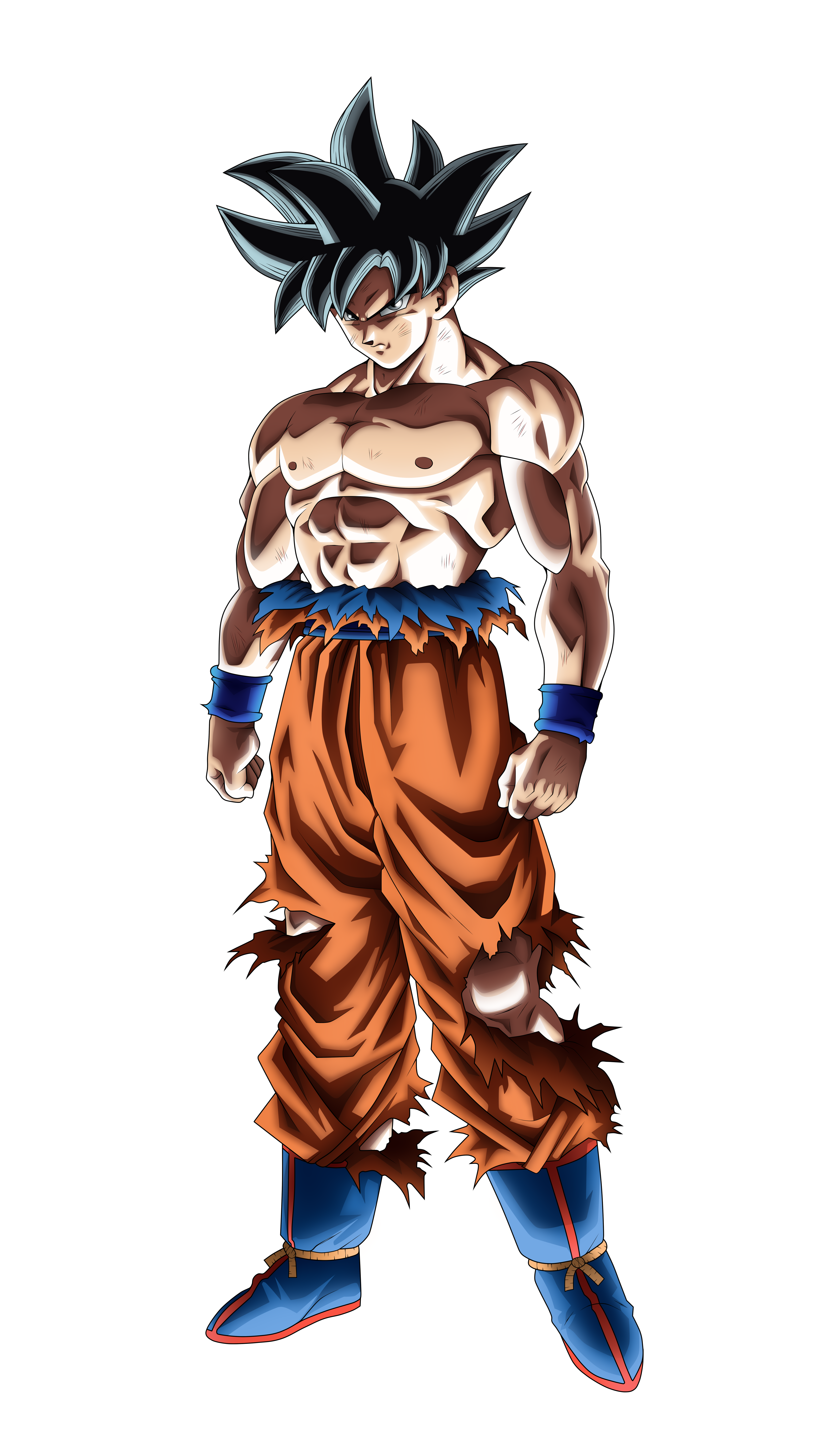 Goku Ultra Instinct No Aura By SonimBleinim On DeviantArt