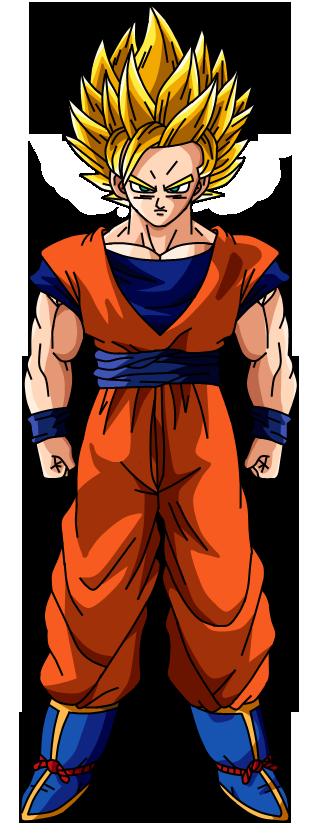 Goku SSJ2 DBZ by SonimBleinim on DeviantArt