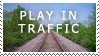 Play in Traffic Stamp by sd-stock