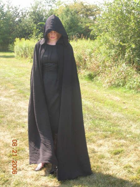 Black Dress and Cloak 2