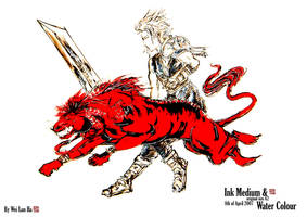 cloud strife and red xiii