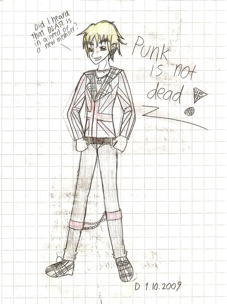 Scribble Drawing Uk : Punk england scribble by demmi chan