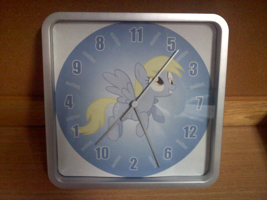 Derpy Hooves Clock by MintShard