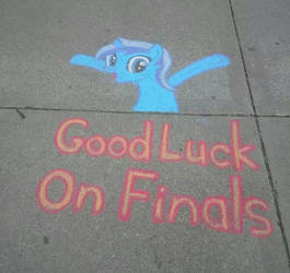 Chalk Colgate Wishes You Luck! by MintShard