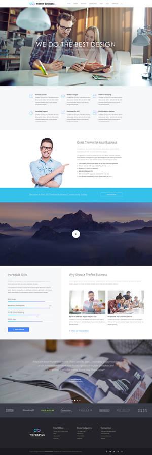 TheFox Business WordPress Theme | About Us