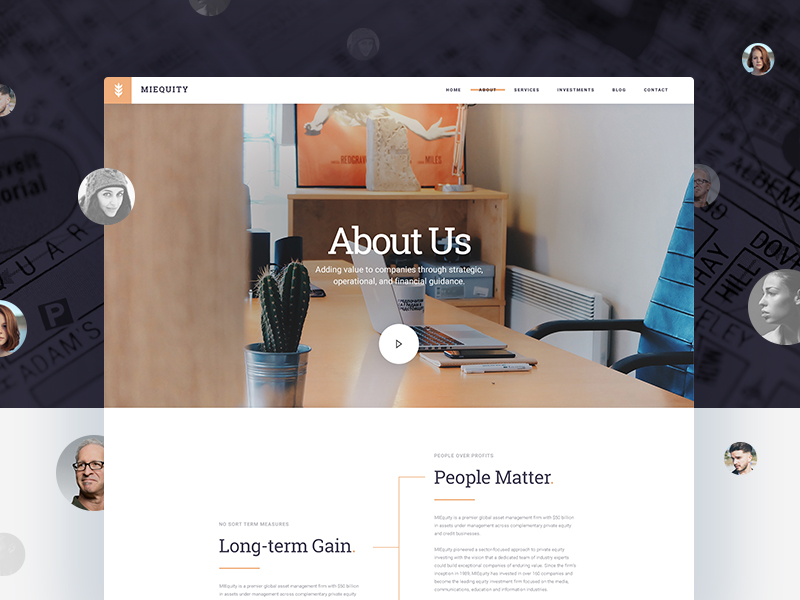 Free PSD - MIEquity - About Us by tranmautritam