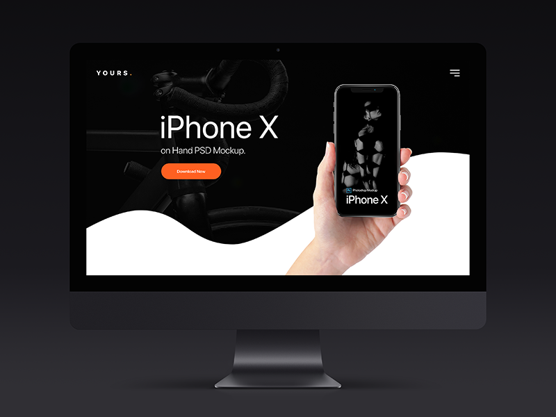 Free Dark Banner - iPhone X on Hand Mockup by tranmautritam
