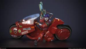 kaneda on bike