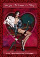Valentine Cupid Greeting Card by xgnyc