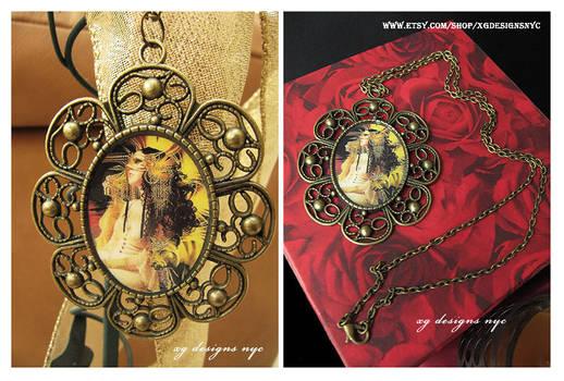 Vanity Fantasy Art Antique Bronze Necklace
