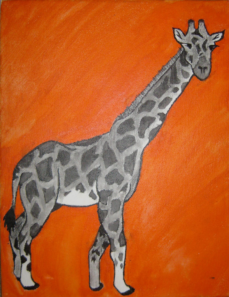 Giraffe Duotone by Snowflake-in-July
